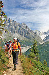 French and Italian Alps walking photo